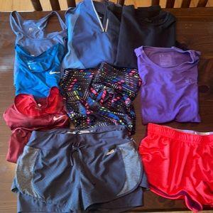 9 pc Athletic clothing bundle size medium
